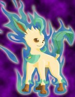 Leafeon's Aura by Eeveelutionist