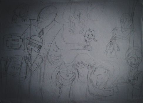 Creepypasta collage WIP by Broxmonkey