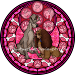 Stained Glass: Lady and the Tramp -Vector- by Akili-Amethyst