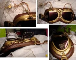 Steampunk goggles by Violettomane