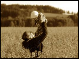 Mother and son by Andenne