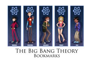 Japan Expo - The Big Bang Theory Bookmarks by coda-leia