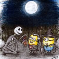 Halloween Minions by ColorfulGuitar