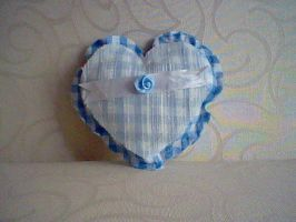 blue check  heart by HelenFlower