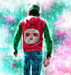 Hotline Miami - Biker by p1xer
