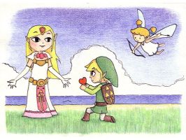 Zelda and Link by ZeldaClub
