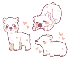 polar bear doodles by RRRAI