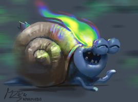 Sexy snail by Theclockworkpainter