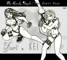 Adam Warren's Dirty Pair by TheD-Wrek