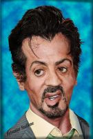 Sylvester Stallone by robhas1left