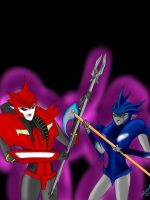 Knockout and NightShade by HollowGirl44