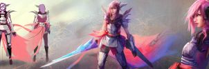 Lightning Returns - FFXIII - Silver Pink Garb by EwaLabak