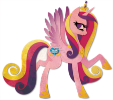 Princess Cadance Paper Vector by Sleepwalks