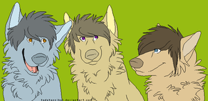 Group Canine Lineart : FREE US by kadeKANNIBAL