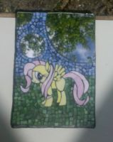 My Little Pony FIM mosaic mirror: Fluttershy by vulpinedesigns
