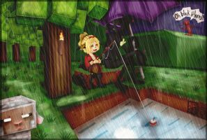 Minecraft: Fishing In the Rain by Kinla