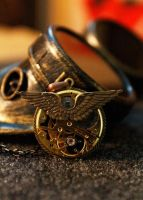 Steampunk Gold Watch Movement Pendant Necklace wit by Steamdino