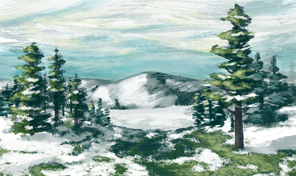 Snow Pines by TheCongressman1