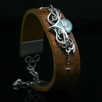 NAHTRAX - Silver, Chalcedony, Leather. by LUNARIEEN