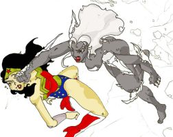 Lady Doomsday vs. Wonderwoman by dieautobot