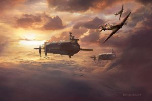 Steampunk Battle of Britain no2 by hangarbay94