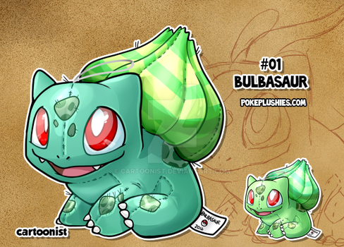 #01 Bulbasaur by cartoonist