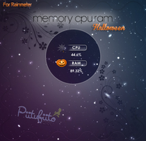 Skin For Rainmeter Memory Cpu Ram Halloween by PiitufiitoGrr