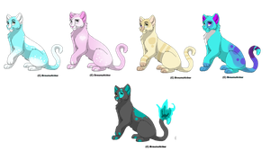 cat adoptables by michyla