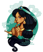 Princess Jasmine by ebonydragon