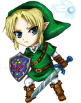 Chibi Link Ocarina of Time by leziith