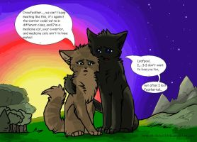 Leafpool and Crowfeather by NonsensicalLogic