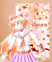 Sakura - for Kyubi by kakumi