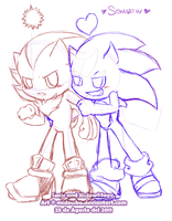 wip? sonadow chao by Midowko