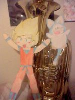 Goku Puar on my Tuba by LivelyArtist