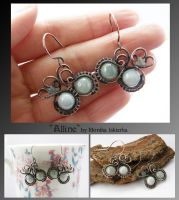 Alline- wire wrapped earrings by mea00