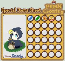 PKMN-C - Dandy's Item Sheet by lurils