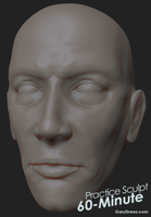 Male Face 01 - 60-Minute Practice Sculpt by GaryStorkamp