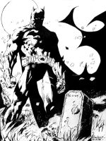 Batman Hush Inked Study, End by AlanStain