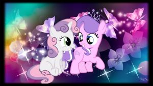 Diamond Tiara x Sweetie Belle by DiscordFAN