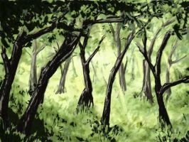 Forest Landscape - One by JadeGL