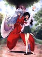 Gift: InuYasha and Kagome by auxeru