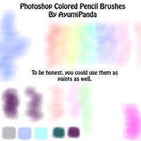 Colored Pencil Brush Set Soft by AyumiPanda