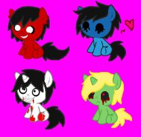 Creepypasta Foal Adoptables CLOSED by DJ-Sky-Storm-117