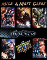 The Avengers Assemble Sketch Cards by Twynsunz