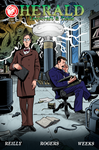 Herald: Lovecraft and Tesla issue 02 cover by mistermuck