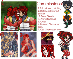 Commission Prices: Paypal/Points by komatana