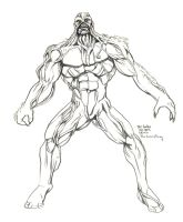 Daily Sketches The Swamp Thing by fedde