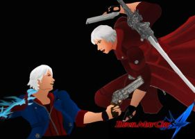 Nero and Dante by ChickenChasser