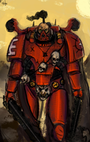 Chaos Lord of Khorne by Captain-Asparagus