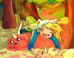 Fionna loves the pups by Meenat